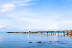 泰国酸值海边码头 库存照片