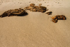 泰国酸值Samet沙滩晃动石头 免版税图库摄影