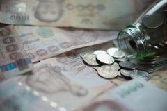 泰国金钱和泰国货币1000泰铢 库存照片