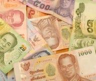泰国金钱泰铢的混合 免版税库存图片