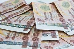 泰国金钱背景。 库存照片