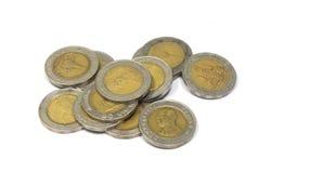 泰国金钱10巴恩 免版税库存图片