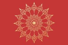 泰国金黄模式的样式 库存图片