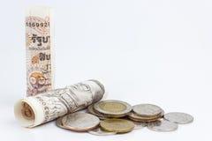 泰国钞票卷  库存照片
