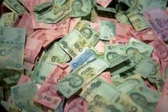 泰国钞票在各种各样的种类价格 免版税图库摄影