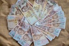 1000泰国钞票堆背景 库存图片