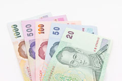 泰国钞票的货币 免版税图库摄影