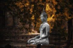 泰国阿尤特拉利夫雷斯古老菩萨雕象 免版税库存照片