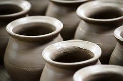 泰国陶器在ko Kret海岛 免版税库存照片