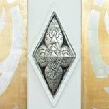 泰国雕刻银色的样式 免版税库存照片