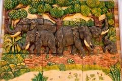 泰国雕塑大象 免版税库存图片