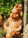 泰国雕象的动物 免版税库存照片