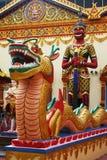 泰国雕象的寺庙 图库摄影