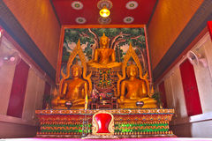 泰国雕象的寺庙 库存图片