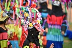 泰国雨仪式节日发埃Khon Nam跳舞 免版税图库摄影