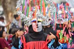 泰国雨仪式节日发埃Khon Nam跳舞 库存图片