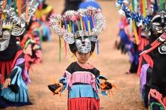 泰国雨仪式节日发埃Khon Nam跳舞 免版税库存照片
