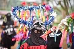 泰国雨仪式节日发埃Khon Nam跳舞 免版税库存图片