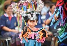 泰国雨仪式节日发埃Khon Nam跳舞 库存照片