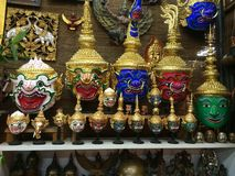 泰国面具 免版税库存图片