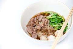 泰国面条用汤 库存照片
