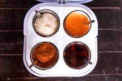 泰国面条调味料 库存图片