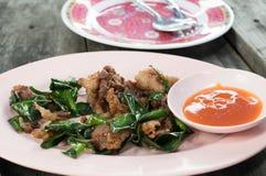 泰国飞行猪肉 免版税库存照片