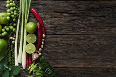 泰国食品成分,菜,辣口味 免版税库存图片