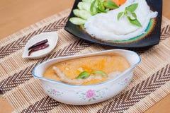 泰国食物咖喱饭 免版税库存照片