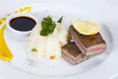 泰国食物在一家豪华旅馆里 免版税库存图片