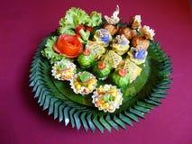 泰国食物混合开胃菜 免版税库存图片