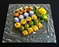 泰国食物混合开胃菜 免版税图库摄影