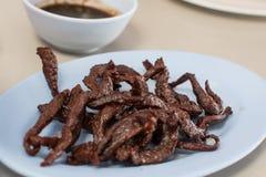 泰国食物牛肉干 免版税库存图片