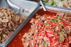 泰国食物的市场 免版税库存照片