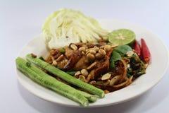 泰国食物的沙拉猪肉 免版税库存图片