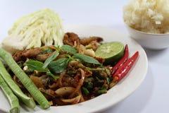 泰国食物的沙拉猪肉 库存图片