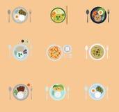 泰国食物的菜单 库存照片