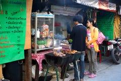泰国食物的街道 免版税图库摄影
