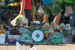 泰国食物的街道 库存图片