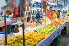 泰国食物的街道 免版税库存照片