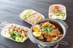 泰国食物的街道 库存照片