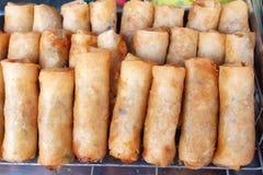 泰国食物的springrolls 免版税图库摄影