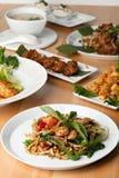 泰国食物盘品种 库存照片
