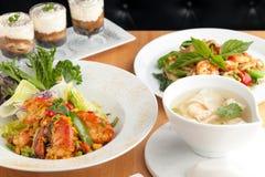 泰国食物盘品种 免版税库存图片