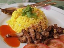 泰国食物盘 库存图片