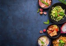 泰国食物背景 库存照片