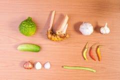 泰国食物菜,辣口味 库存图片