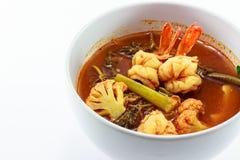 泰国食物虾 免版税库存照片