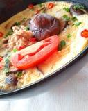 泰国食物蛋菜单 图库摄影