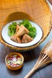 泰国食物进入 免版税库存照片